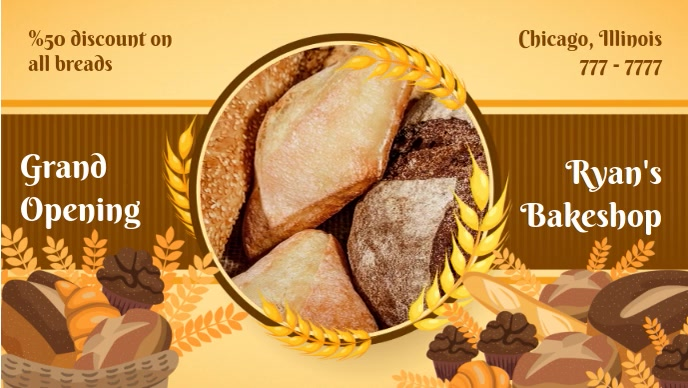 Small Business Bake Sale Promotion Facebook Video Cover