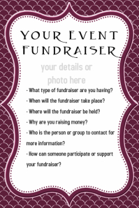 Small Business Event Flyer Fundraiser Dinner Reception Poster template