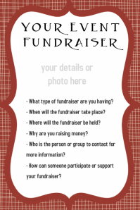 Customizable Design Templates for Fundraiser Flyer Event Poster