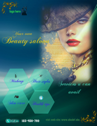 small business flyer,beauty saloon poster, health and beauty