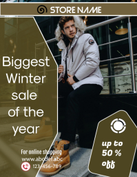 small business flyer,retail poster,corporate,winter sale