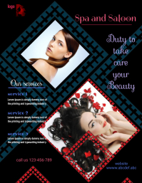small business flyer,saloon and spa services poster