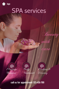 small business flyer,spa services poster, health and beauty