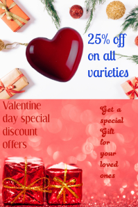 small business flyer,valentine's retail poster template