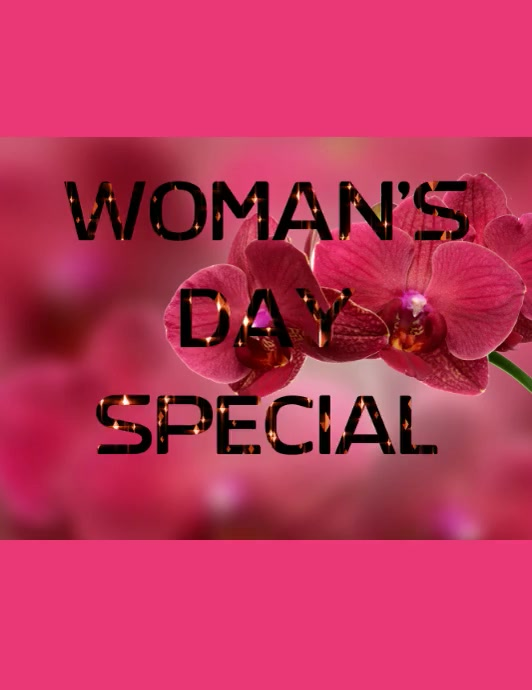 Small business flyer,woman's day special poster,flyer