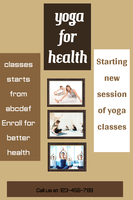 small business flyer,yoga class poster,fitness and health