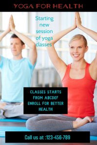 small business flyer,yoga classes poster, health and beauty