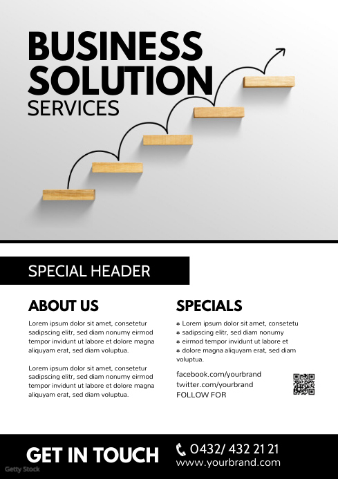 Small Business Flyer Services Poster Advert