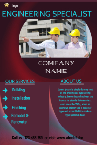 small business flyer template,renovation,engineering service