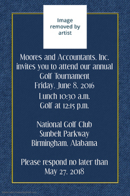 Small Business Golf Tournament Invitation Poster Template