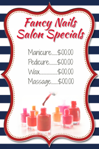 Small Business Nail Salon Pricing List Specials Retail