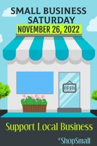 Small Business Saturday Plakat template