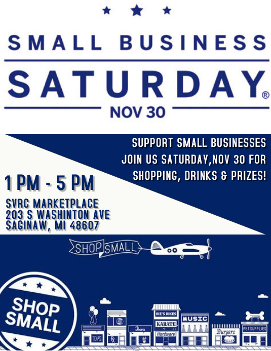 SMALL BUSINESS SATURDAY FLYER Рекламная листовка (US Letter) template