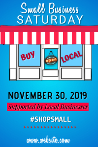 Small Business Saturday Poster Плакат template