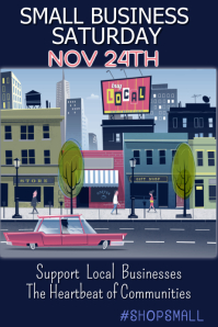 Small Business Saturday Poster Template Póster