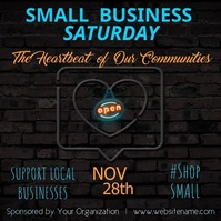 Small Business Saturday Video Vierkant (1:1) template
