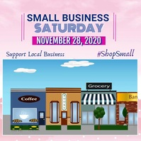 Small Business Saturday Video Flyer Square (1:1) template