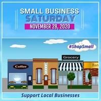 Small Business Saturday Video Flyer Kwadrat (1:1) template