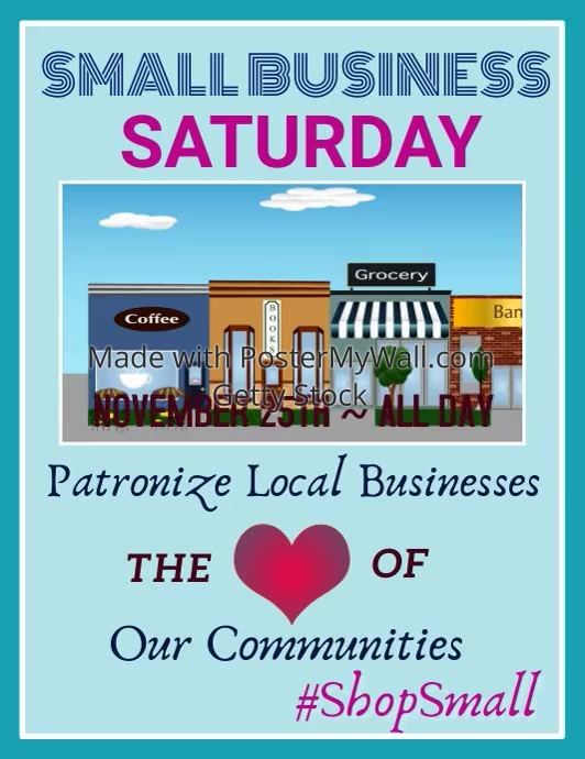 Small Business Saturday Video Flyer Template Postermywall
