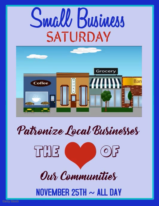 Small Business Saturday Video Flyer