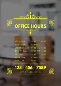 Small Business Store Business Hours Sign