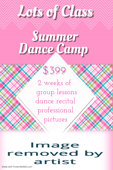 Small Business Summer Dance Camp Lessons Recital Flyer