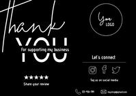 Small Business Thank You Card Cartolina template