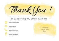 Small Business Thank You Card Открытка template