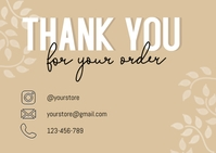 Small Business Thank You Card Briefkaart template