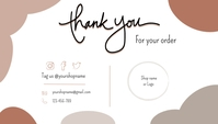 Small Business Thank You Card 名片 template