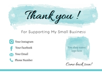 Small Business Thank You Card Postkarte template