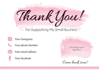 Small Business Thank You Card Cartolina template
