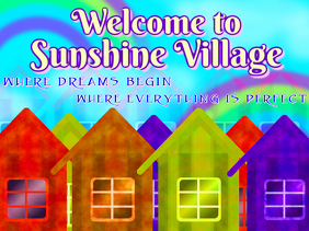 small city or community with colorful houses cabins or cottages