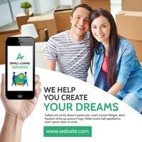 small loans services advertising instagram po template
