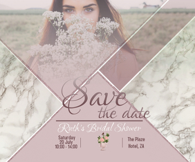 Small Save The Date Persegi Panjang Besar template