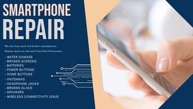 Smart Phone Repair Facebook Cover Video Template