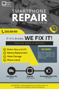 Smart phone repair flyer