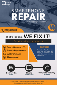 Smart phone repair flyer โปสเตอร์ template
