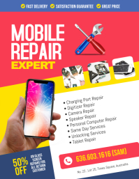 Smartphone Mobile Phone Repair Flyer Poster template