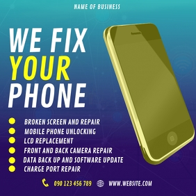 SMARTPHONE REPAIR FLYER โพสต์บน Instagram template