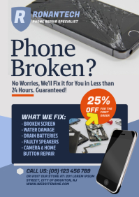 Smartphone Repair Flyer A4 template