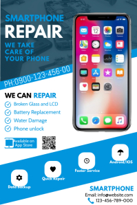 Smartphone Repair Flyer โปสเตอร์ template