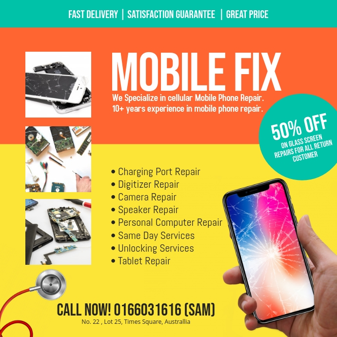 Smartphone Repair instagram post