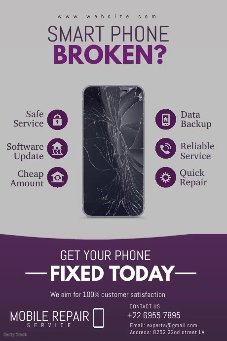 Smartphone Repair Poster template