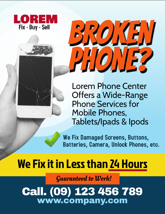 Computer Repair Flyer Templates PosterMyWall - Buy flyer templates