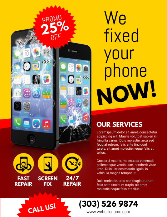 Smartphone Repair Service Flyer Template | PosterMyWall