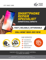 Smartphone Repair Specialist Flyer Poster Template ใบปลิว (US Letter)