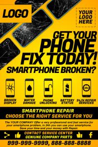 Smartphone Repair Workshop Template Plakat