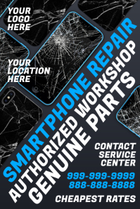 Smartphone Repair Workshop Template Poster