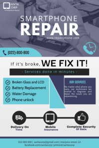smartphone service flyer